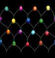 Seamless string of Christmas lights vector image vector image