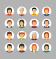 set of avatars and characters in flat style vector image