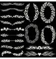Set of handdrawn laurels and wreaths vector image vector image