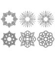Set of six black circular stencils vector image vector image