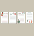 set of to do lists for new year vector image vector image