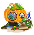 small pumpkin house vector image