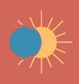 solar eclipse or planetary collision solar vector image
