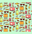 trendy hipster elements seamless pattern vector image vector image