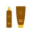 Tube of suntan oil cream Sun spray lotion Bottle vector image vector image
