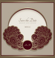 vintage gold frame with swirly border decoration vector image vector image