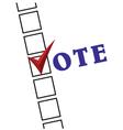 Voting Symbols vector image vector image