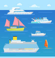 water transport with ship liner boat vector image