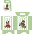 A brown bear packages pattern vector image