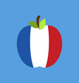 apple france flag french national fruit vector image