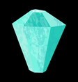 aquamarine precious stone gemstone mineral vector image vector image