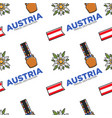 austria travel destination seamless pattern belt vector image vector image