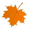 Autumn Maple Leaf Low Poly vector image vector image