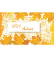 autumn template banner vector image