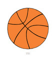 basketball ball on white background hand drawn vector image vector image
