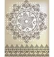 Beautiful mandala Lace and patterns vector image vector image
