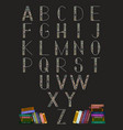 books alphabet for schools like posters bunners vector image vector image