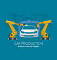 car manufacturer or car production concept vector image
