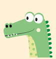 card with cartoon crocodile vector image