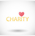 charity flat icon donation vector image vector image