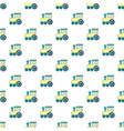 children train for walks pattern seamless vector image