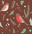 christmas seamless pattern with branches vector image vector image
