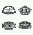 collection retro vintage style labels and banne vector image vector image