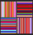 color lines background set vector image vector image