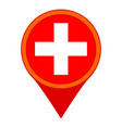 colorful cartoon hospital map sign vector image