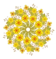 colorful mehndi mandala with flowers and leaves vector image