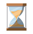 colorful silhouette of sand clock with half shadow vector image vector image