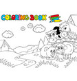 coloring book with cute animals 3 vector image vector image