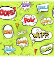comic bubbles seamless cartoon explode circle vector image