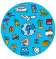 concept icons for travel vector image vector image
