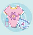 cute baby clothes cartoons vector image vector image