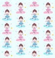 cute girl ballerina dance blue custom on the vector image