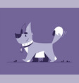 cute little dog flat vector image