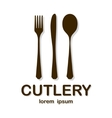Cutlery brown vector image