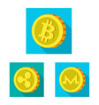 design of cryptocurrency and coin symbol vector image