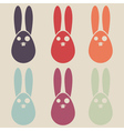easter rabbit colorful collection vector image vector image