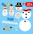 educational game for children happy toy snowman vector image