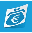 Euro purse sticker vector image