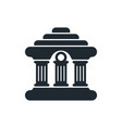 flat bank building facade icon vector image