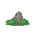 flat icon of big stony mountain surrounded vector image vector image
