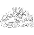 fruits and vegetables for coloring book vector image vector image