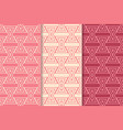 geometric background triangle red seamless pattern vector image