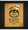 Halloween Party Design template with pumpkin vector image vector image