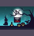 happy halloween banner trick or treat concept vector image vector image