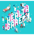 Healthcare 01 Concept Isometric vector image vector image