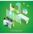 Isometric Radiology Fluorography Procedure vector image